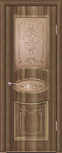 """Дверь Верона ДО купить в Санкт-Петербурге по низкой цене (цвет: орех седой темный) от производителя межкомнатных дверей """"Геона"""