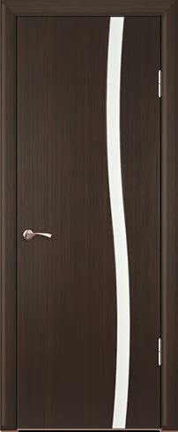 """Дверь Вираж 1/1 купить в Санкт-Петербурге по низкой цене (цвет: венге полосатый) от производителя межкомнатных дверей """"Геона"""