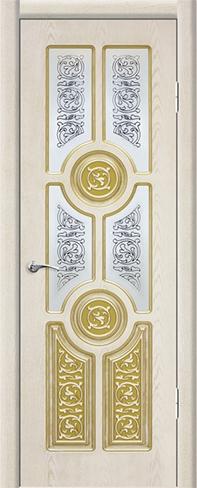 """Дверь Анкона купить в Санкт-Петербурге по низкой цене (цвет: квазар перламутр с золотой патиной) от производителя межкомнатных дверей """"Геона"""