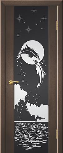 """Дверь Дельфин купить в Санкт-Петербурге по низкой цене (цвет: венге натуральный) от производителя межкомнатных дверей """"Геона"""