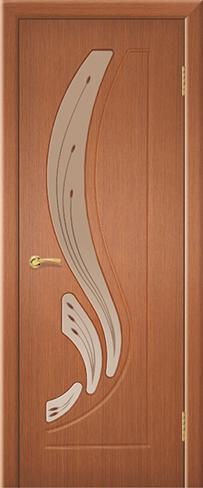 """Дверь Лира купить в Санкт-Петербурге по низкой цене (цвет: орех янтарь) от производителя межкомнатных дверей """"Геона"""