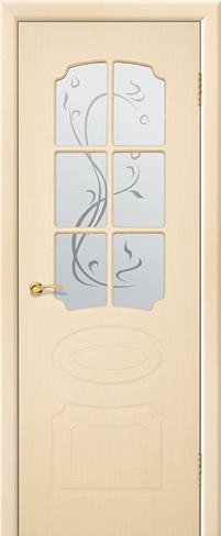 """Дверь Ламия купить в Санкт-Петербурге по низкой цене (цвет: дуб молочный) от производителя межкомнатных дверей """"Геона"""
