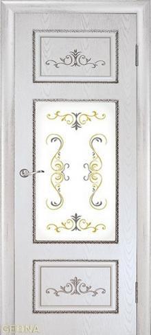 """Дверь Лоренцо ДО купить в Санкт-Петербурге по низкой цене (цвет: белый) от производителя межкомнатных дверей """"Геона"""