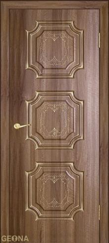 """Дверь Неаполь купить в Санкт-Петербурге по низкой цене (цвет: орех седой темный с серебряной патиной) от производителя межкомнатных дверей """"Геона"""