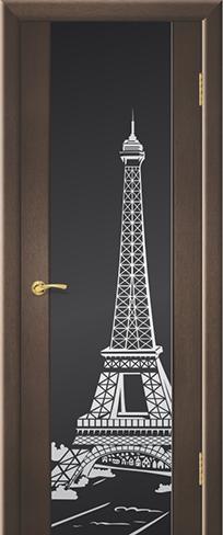 """Дверь Париж купить в Санкт-Петербурге по низкой цене (цвет: венге натуральный) от производителя межкомнатных дверей """"Геона"""