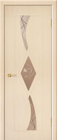 """Дверь Рубин 3 ДО купить в Санкт-Петербурге по низкой цене (цвет: дуб молочный) от производителя межкомнатных дверей """"Геона"""