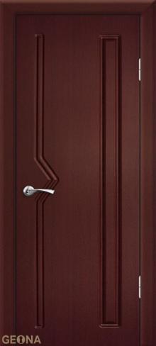 """Дверь Вектор купить в Санкт-Петербурге по низкой цене (цвет: махагон) от производителя межкомнатных дверей """"Геона"""