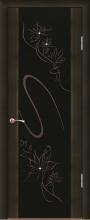 """Дверь Кристалл купить в Санкт-Петербурге по низкой цене (цвет: венге полосатый) от производителя межкомнатных дверей """"Геона"""