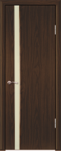 """Дверь Люкс 1/1 купить в Санкт-Петербурге по низкой цене (цвет: черное дерево глянец) от производителя межкомнатных дверей """"Геона"""