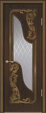 """Дверь Флоренция купить в Санкт-Петербурге по низкой цене (цвет: черное дерево матовое с золотой патиной) от производителя межкомнатных дверей """"Геона"""