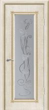 """Дверь Тоскана купить в Санкт-Петербурге по низкой цене (цвет: белый с золотой патиной) от производителя межкомнатных дверей """"Геона"""