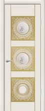 """Дверь Рим купить в Санкт-Петербурге по низкой цене (цвет: крем с золотой патиной) от производителя межкомнатных дверей """"Геона"""