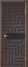 """Дверь Лабиринт с фрезеровкой купить в Санкт-Петербурге по низкой цене (цвет: венге натуральный) от производителя межкомнатных дверей """"Геона"""
