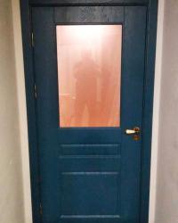 Двери Блюз 2/1 ДО сатинат бронза. Цвет Джинс