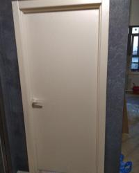 Дверь Гладь в цвете Квазар перламутр с фурнитурой Palladium