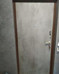 Накладка на входную дверь Гладь в цвете Бетон темный