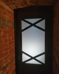 Дверь Вита Х ДО сатинат светлый. Цвет софт Блэк