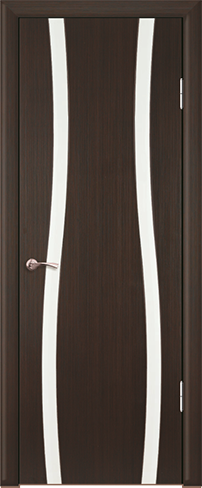 """Дверь Вираж 2 купить в Санкт-Петербурге по низкой цене (цвет: венге полосатый) от производителя межкомнатных дверей """"Геона"""