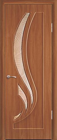 """Дверь Лотос купить в Санкт-Петербурге по низкой цене (цвет: анегри золотистый) от производителя межкомнатных дверей """"Геона"""