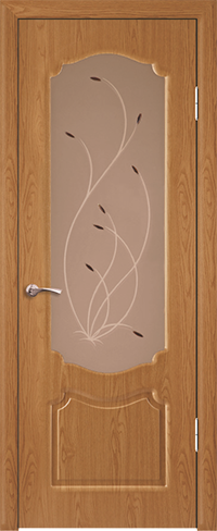"""Дверь Натали купить в Санкт-Петербурге по низкой цене (цвет: дуб) от производителя межкомнатных дверей """"Геона"""