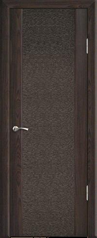 """Дверь Люкс 1 с тканью купить в Санкт-Петербурге по низкой цене (цвет: венге темный) от производителя межкомнатных дверей """"Геона"""