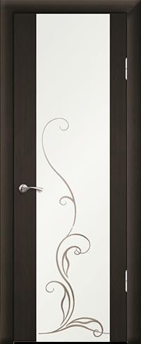 """Дверь Люкс 1 эконом купить в Санкт-Петербурге по низкой цене (цвет: венге темный) от производителя межкомнатных дверей """"Геона"""