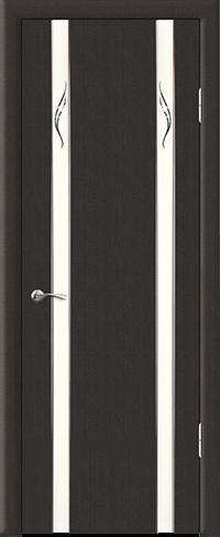 """Дверь Люкс 2 эконом купить в Санкт-Петербурге по низкой цене (цвет: венге шелк) от производителя межкомнатных дверей """"Геона"""