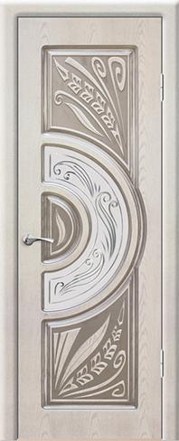 """Дверь Сорренто купить в Санкт-Петербурге по низкой цене (цвет: квазар перламутр с серебряной патиной) от производителя межкомнатных дверей """"Геона"""