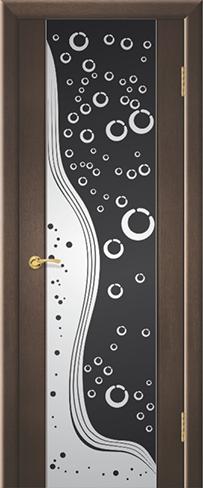 """Дверь Аква купить в Санкт-Петербурге по низкой цене (цвет: венге натуральный) от производителя межкомнатных дверей """"Геона"""