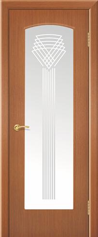 """Дверь Фонтан купить в Санкт-Петербурге по низкой цене (цвет: орех янтарь) от производителя межкомнатных дверей """"Геона"""