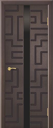 """Дверь Лабиринт 1 с фрезеровкой купить в Санкт-Петербурге по низкой цене (цвет: венге натуральный) от производителя межкомнатных дверей """"Геона"""