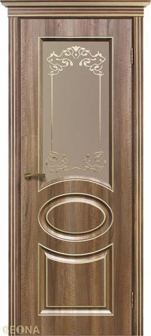 """Дверь Орнелла с поталью купить в Санкт-Петербурге по низкой цене от производителя межкомнатных дверей """"Геона"""