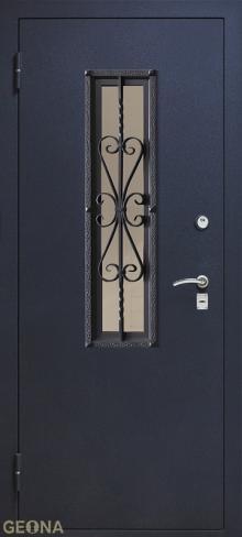 Дверь входная стеклопакет S1 купить в Санкт-Петербурге по низкой цене от производителя дверей Геона