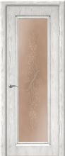 """Дверь Сиена купить в Санкт-Петербурге по низкой цене (цвет: белый с серебряной патиной) от производителя межкомнатных дверей """"Геона"""
