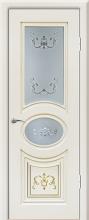 """Дверь Валенсия купить в Санкт-Петербурге по низкой цене (цвет: крем с золотой патиной) от производителя межкомнатных дверей """"Геона"""