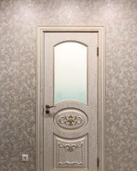 Дверь Тессоро цвет белый СС с патиной