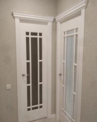 Двери Омега 2 ДО сатинат светлый. цвет Софт милк