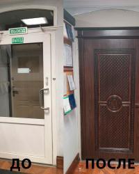 Дверь Данте ДГ в цвете Черное дерево матовое с коричневой патиной.