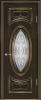 """Дверь Гармония купить в Санкт-Петербурге по низкой цене (цвет: венге темный с золотой патиной) от производителя межкомнатных дверей """"Геона"""