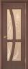 """Дверь Медуза купить в Санкт-Петербурге по низкой цене (цвет: тик гранат) от производителя межкомнатных дверей """"Геона"""